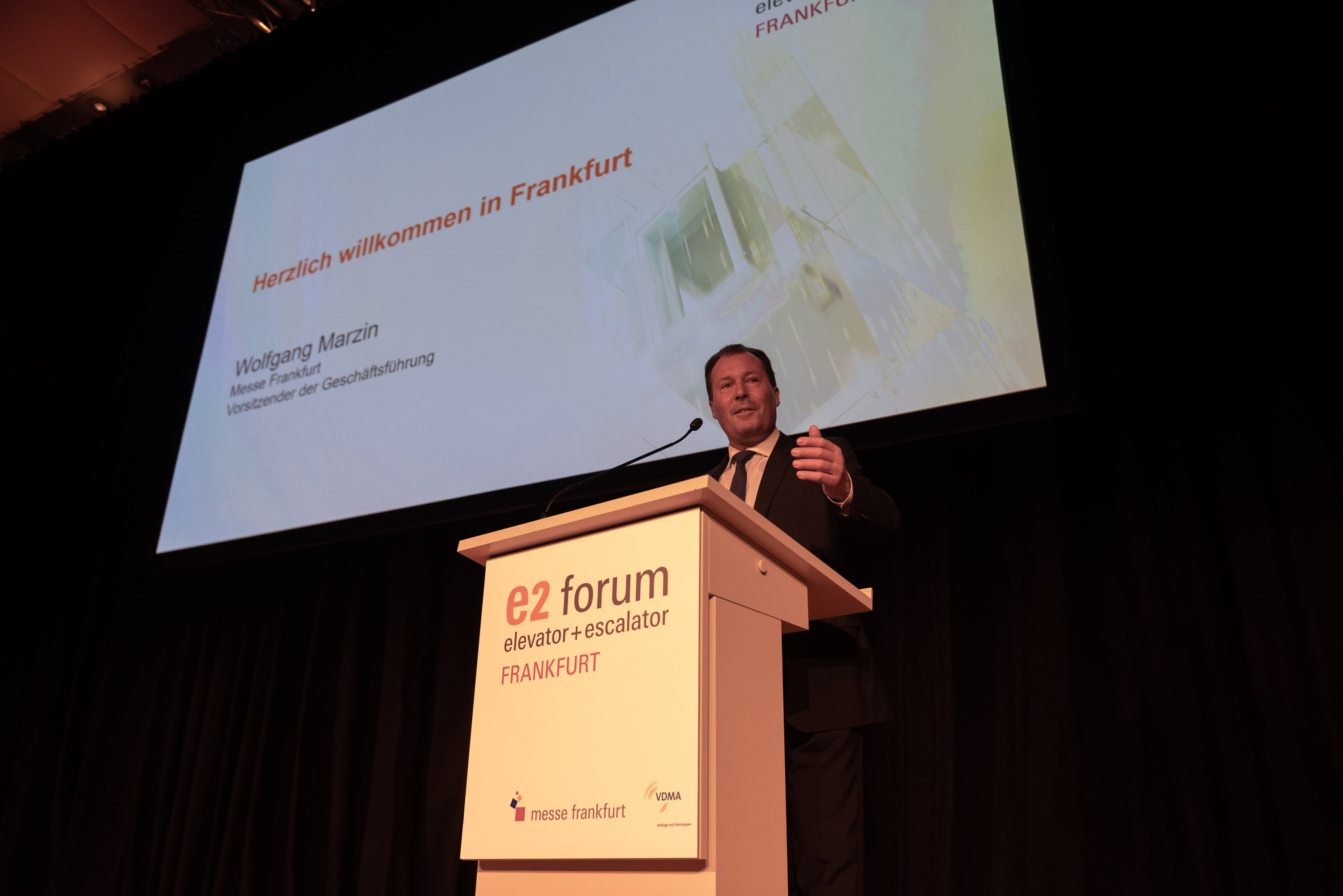Wolfgang Marzin, President and Chief Executive Officer (CEO) of Messe Frankfurt GmbH
